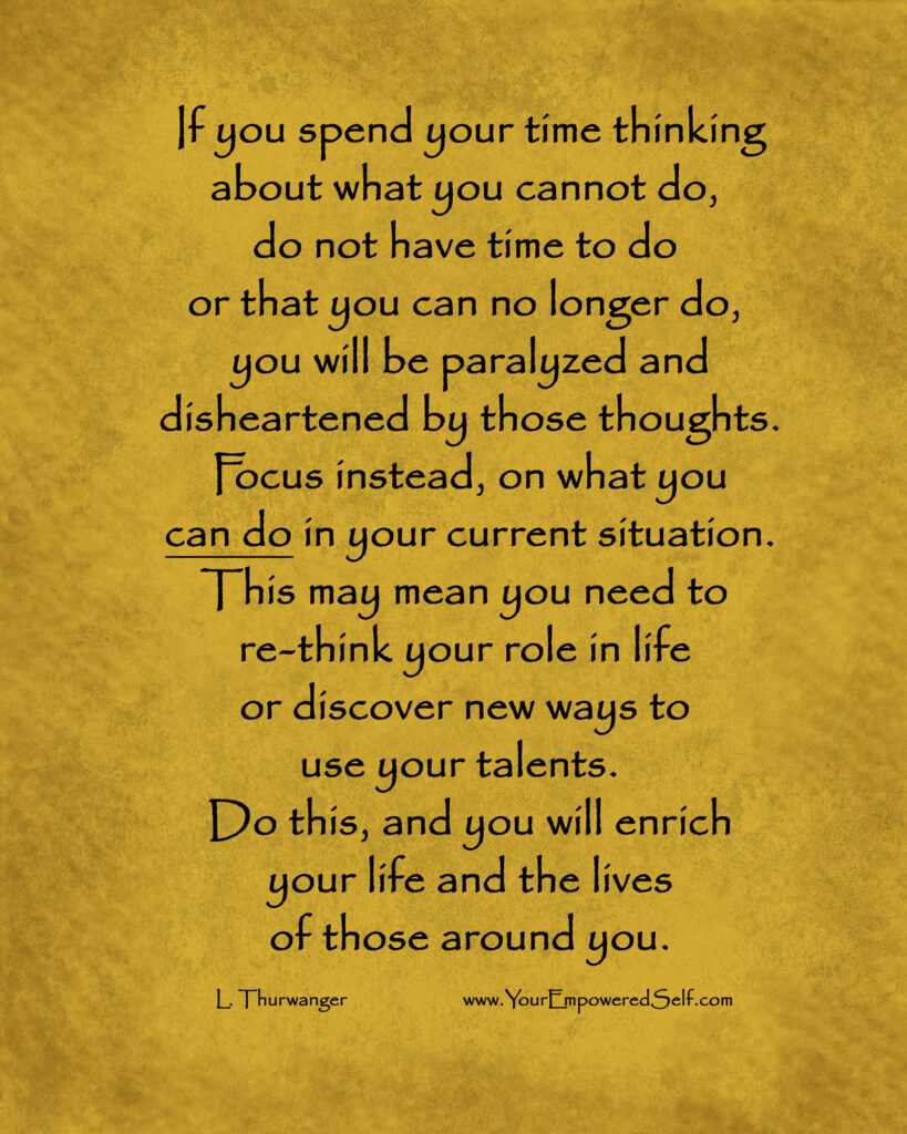 what stops you from doing the things you want to do
